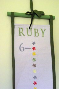 Ruby's growth chart