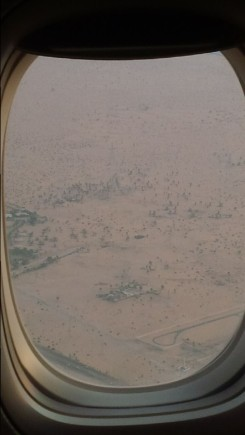 desert around Dubai airport