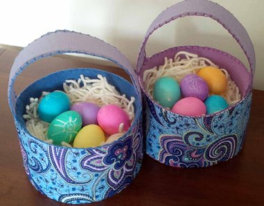 easter baskets with eggs 2
