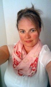 celery rose scarf