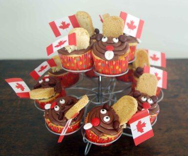 beaver cupcake