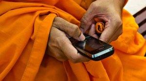 monk texting