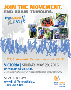 27 Canadians a day are diagnosed with a brain tumour, I WAS one of them.