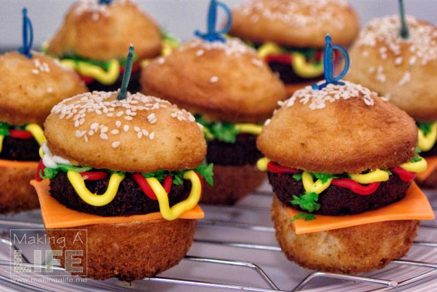 Burger Cupcakes 2 Making A Life