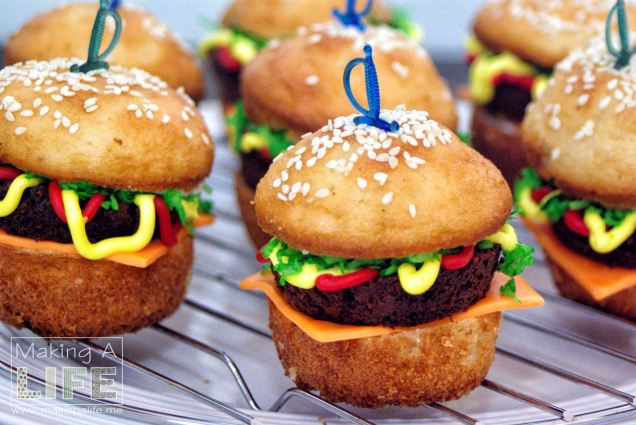 Burger Cupcakes Making A Life